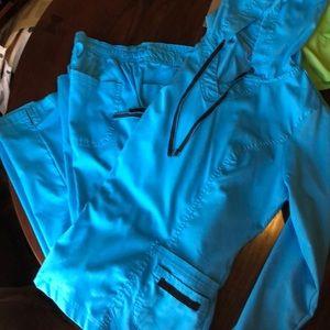 Women's long sleeve scrub set